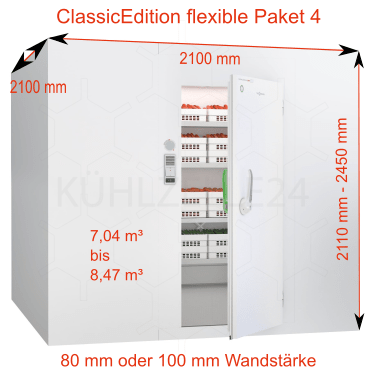 pakete mit regalsystem aber ohne aggregat classicedition flexible g nstig bei k hlzelle24. Black Bedroom Furniture Sets. Home Design Ideas